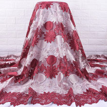 Zhenguiru гипюровый шнур африканская кружевная ткань яркий бриллиант французская кружевная ткань Нигерия ткань для женщин платье для свадьбы в...(Китай)