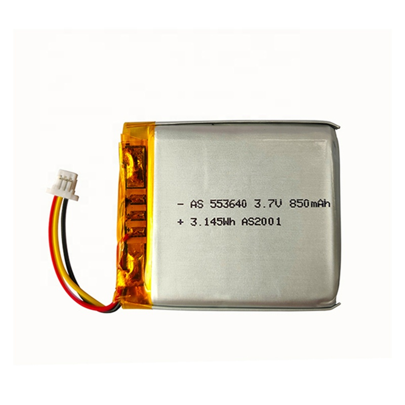 UL2054 553640 rechargeable lithium polymer Lipo 3.7V 850mAh li-ion polymer <strong>battery</strong> for GPS tracking
