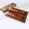 Professional 12 colors Matte Glitter Lasting Nude Powder Eye Shadow Palette with Brush