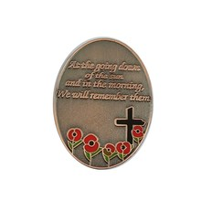 Lembrança Presentes Broche Banquete Red Poppy Flower pin broche