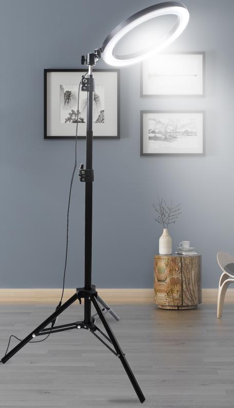 Для видеосъемки Tik Tok лампа заполняющая свет Аро де Люз светодиодная селфи кольцевая лампа с подставкой для штатива