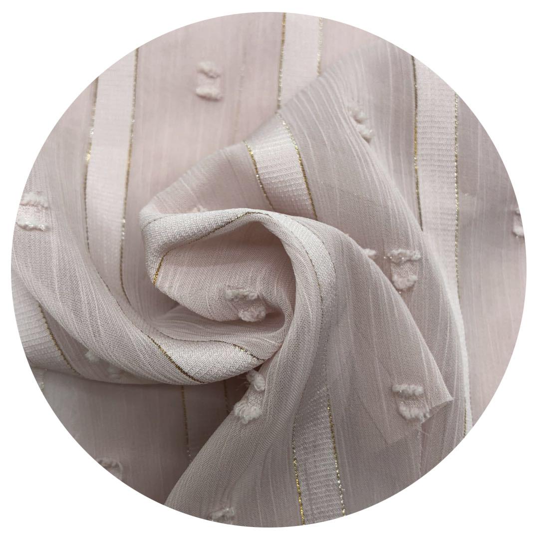 Высококачественная жаккардовая шифоновая ткань в горошек из 100% полиэстера с атласным люрексом для одежды платья