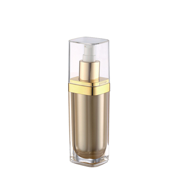 15ml 30ml 50ml 100ml packaging acrylic bottle skin care lotion square luxury acrylic bottles gold color