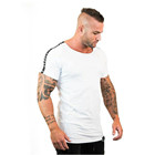 Gyms Fitness Slim T-shirt Men Ribbon Short sleeve Cotton t shirt Male Summer Casual Fashion Tee Tops Brand Apparel