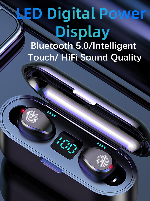 2020 new arrivals Wireless Ear-Buds TWS earphones Bluetooth 5.0 Good Sound Sweat-Proof Design 5 Hours Play time for all phones