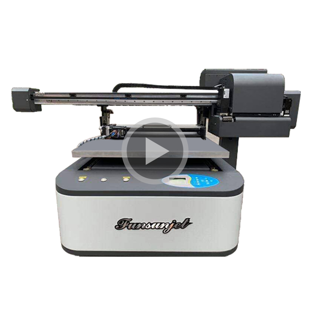 Gratis inkt! Gratis monster! Funsun 9060 flatbed uv printers A1 digitale 1440dpi hoge resolutie