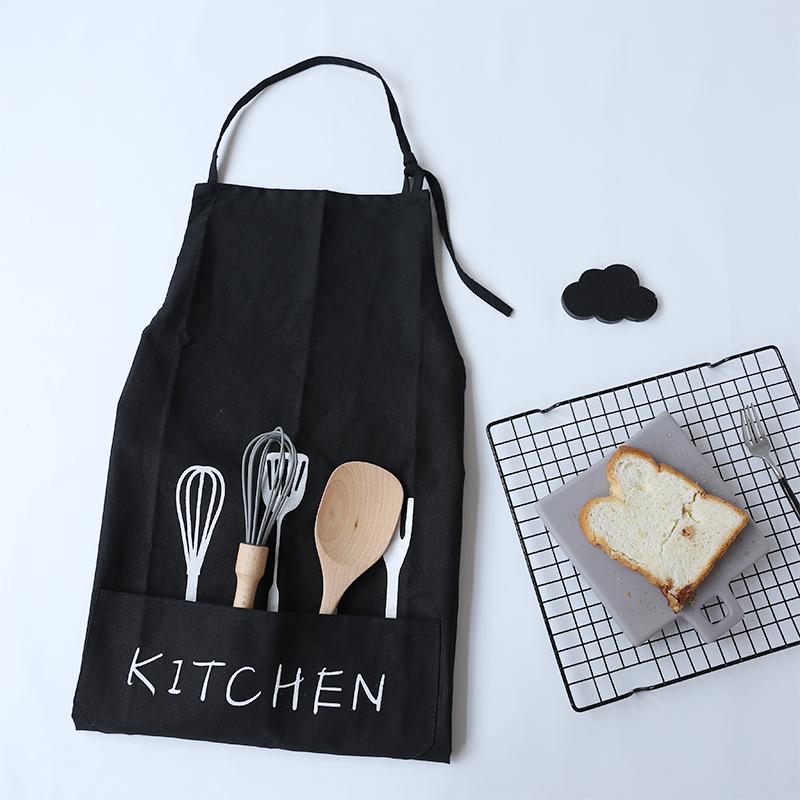High Quality Japanese-style Simple And Cute Kitchen Apron Waterproof Dishwasher Apron Waterproof Bib Apron