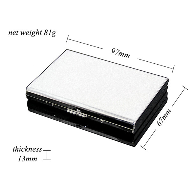 RFID Blocking Business Men Women Stainless Steel Credit ID Card Case Travel Card Wallet Metal Fancy Card Holder