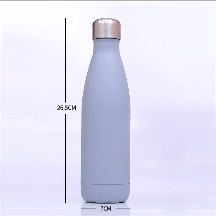 17OZ Stainless Steel Insulated Vacuum Flasks Thermoses Cola Shape Sport Water Bottle