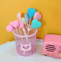 1 шт. милый розовый маленький поросенок полый квадратный круглый металлический держатель для ручек органайзер для хранения стенд линейка Н...(Китай)