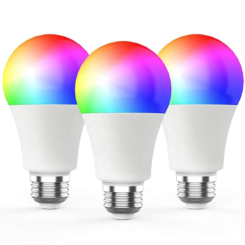 ILLUMAN 2020 mew arrival Alexa home WiFi bulb RGB LED lamp works with Alexa Google smart led light bulb for bedroom living room