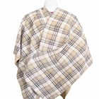 Fast shipping in stock plaid 100% polyester scarves shawls hijab prayer shawl wholesale