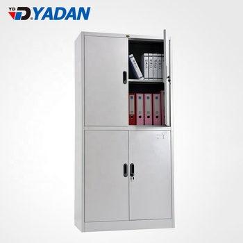 Office furniture equipment 2 door metal cupboard steel storage filing cabinets fireproof
