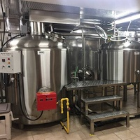 3000 liter/day craft beer brewery equipment microbrewery used glycol jacketed fermenter