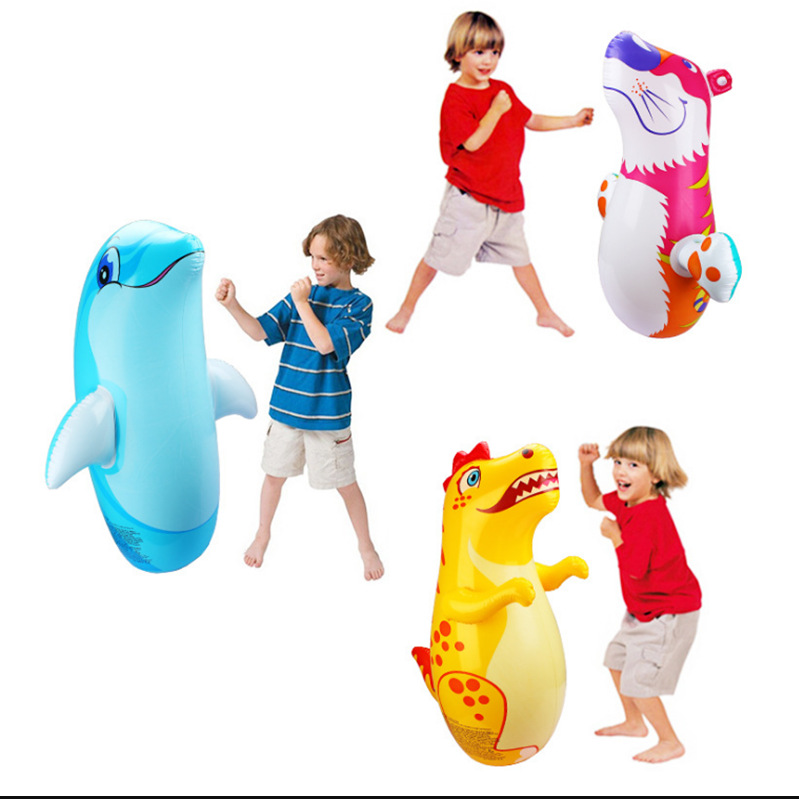 PVC Inflatable Cute Tumbler For Kids
