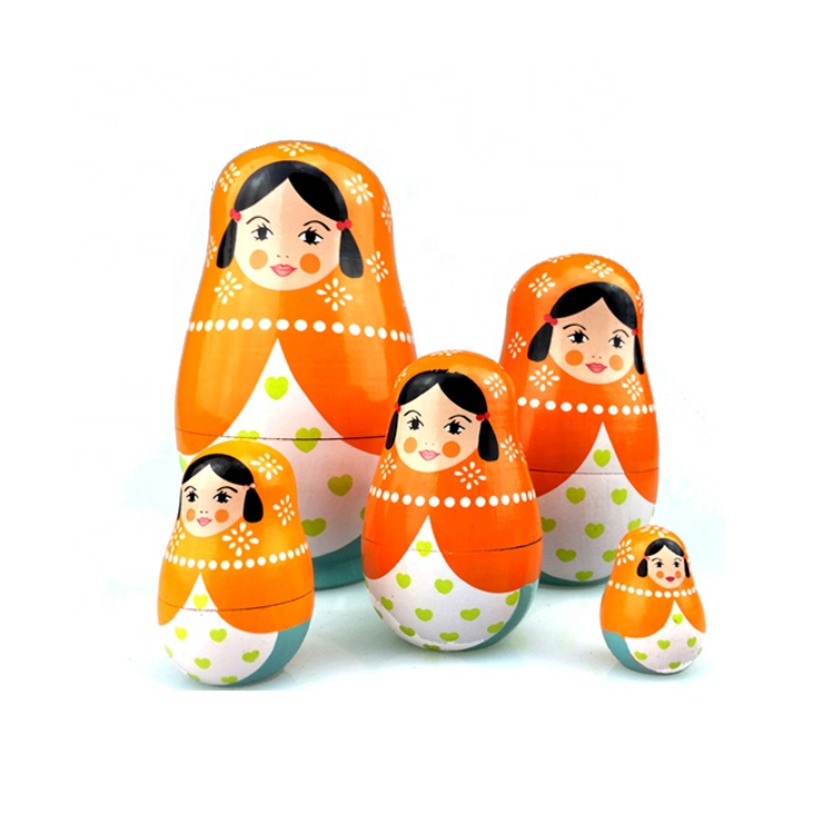 2018 Hot Sale High Quality Matryoshka dolls Handmade Russian Wooden Dolls Wooden Russian Doll AT11338