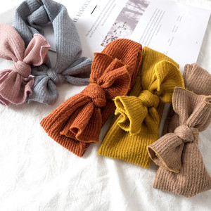 Cute Baby Girl Headbands Knitted Newborn Baby Bows HairbandTurban Infant Head Bands Hairbands For Kids Girls Hair Accessories