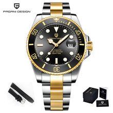 Мужские механические часы PAGANI DESIGN 2020, автоматические Роскошные деловые наручные часы с нейлоновым ремешком для подводной лодки, NH35A(Китай)