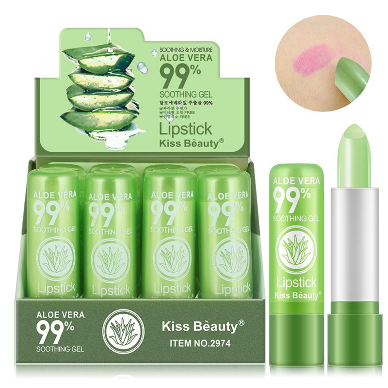 Kiss Beauty Natural Lip Gloss Temperature Changed Color ...