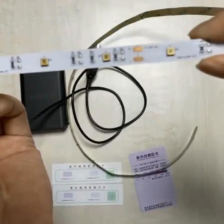 No-Waterproof אישית UV-C led קוטל חידקים אור 365nm-375nm UV led רצועת