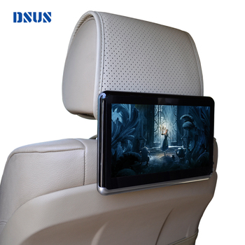 TPU material seat back car dvd player wireless bt car advertising monitor tv monitor headrest touch screen car dvd player
