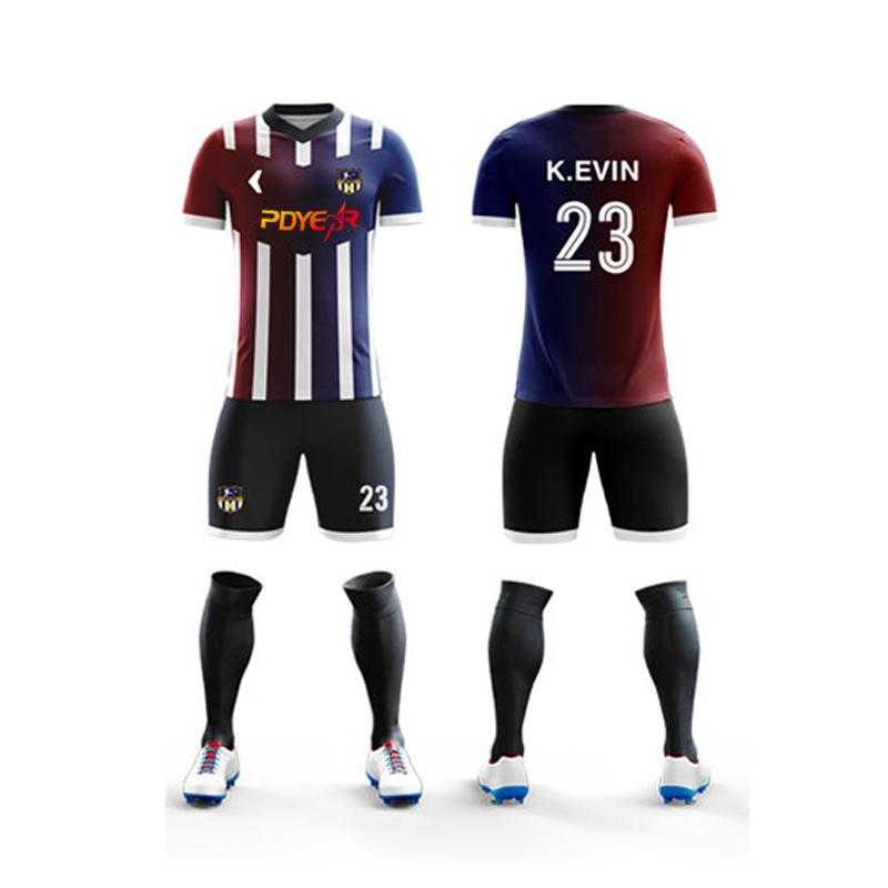 2020 Goedkope Thai Kwaliteit Voetbal Sportkleding Type Maillot Voetbal Jersey Ontwerp, Korte Mouw Team Jersey Voetbal Slijtage