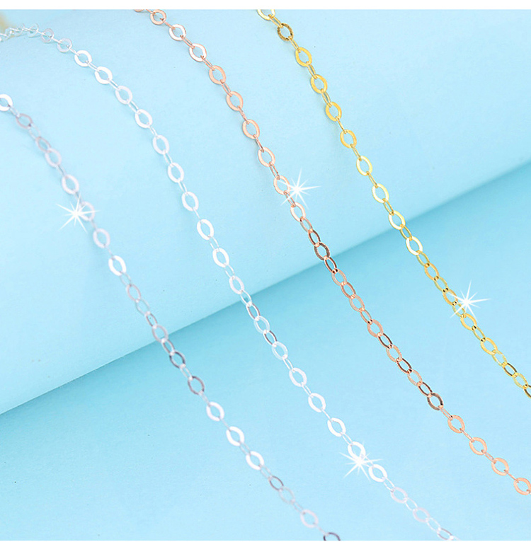 Wholesale Factory Price Italy 925 Sterling Silver Chain Gold Color Necklace