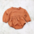 Casual baby clothing sets longsleeve front pocket baby french terry top with bloomer sets