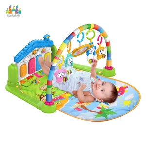 Wholesale infant activity gym play toy musical baby kick and play piano carpet baby play gym mat with rattle