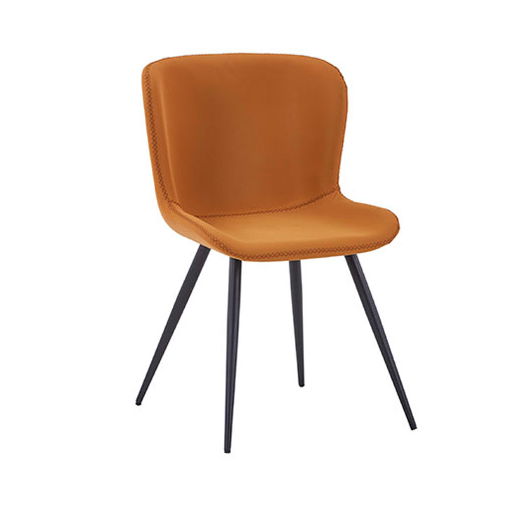 Dining Chair Pu Chairs Purple Leather Gray Room Seat Green Metal Beige Brown Design 6 Modern 2 Armchair Nordic Arm In Set With
