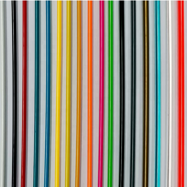 Different Dimension Flexible Colored Pvc Rope, Plastic Rope For Chair Material