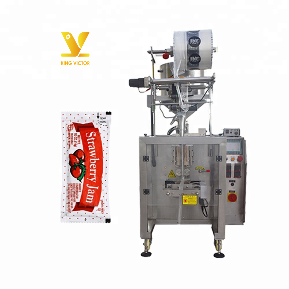 Automatic jam portion pillow pouch sachet packing packaging machine