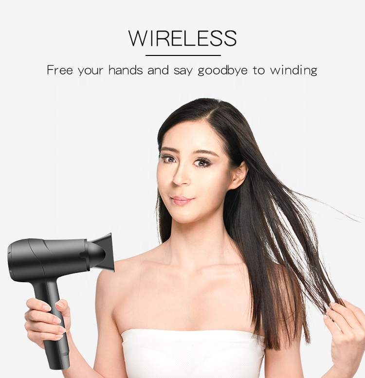 Professional Portable Household Hotel Use rechargeable wireless cordless hair dryer