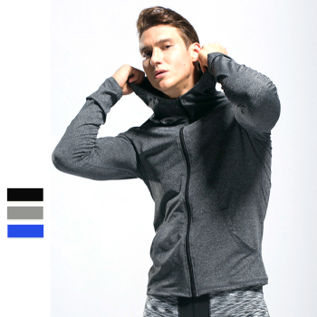 Blank Mens Lightweight grey hoodie Full Zip Up Hoodie Hooded Sweatshirt