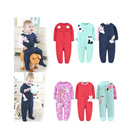 Wholesale Baby Loose Fit Flame Resistant Fleece Footed Pajamas
