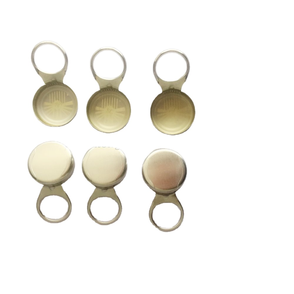 Professional supplier factory price beer juice drink glass bottle dia27 pull ring bottle aluminum crown cap
