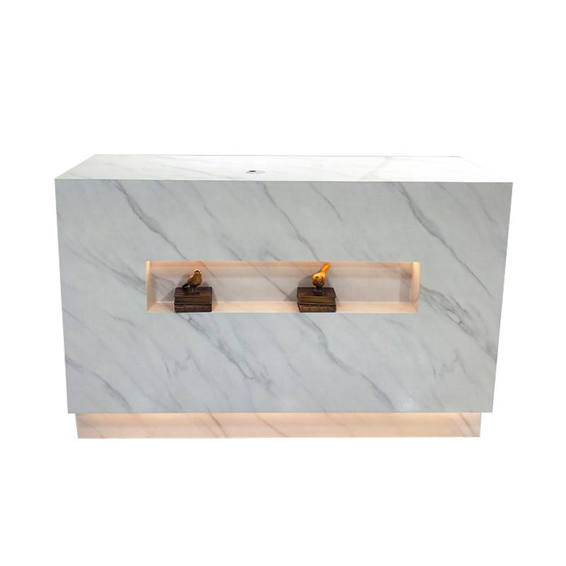 Wholesale Customize Sized Beauty Salon Furniture Wood Counter Reception Desk