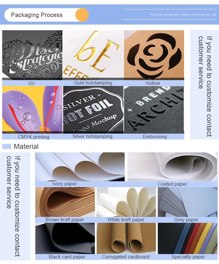 Durable fancy bag paper with logo full color print custom wholesale