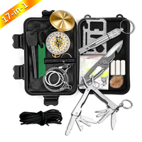 Most Popular Hot Selling Flint Rod tactical Survival gear fishing Tool Kit For Outdoor Sports