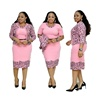 Online Shopping Factory Two Piece Set Women Clothing African Ladies Office Wear Dresses Dress