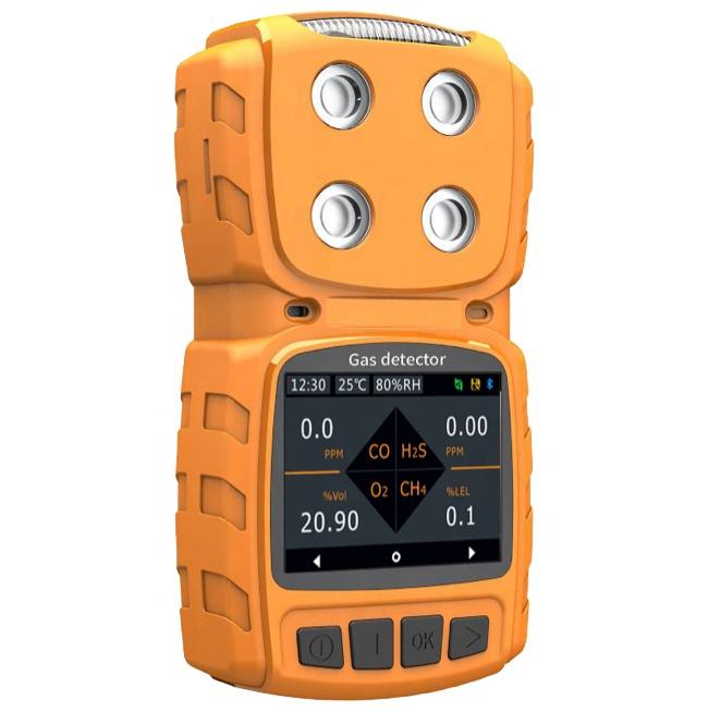 MS104K 유명한 브랜드 2 가스 CO2 (IR) O2 휴대용 멀티 가스 감지기