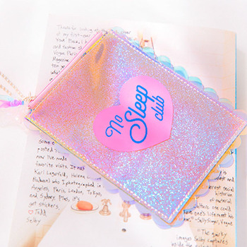 Girls Pattern Students Wallet Bus Id Card Case Holders Badge Bank Credit Card Holder With String