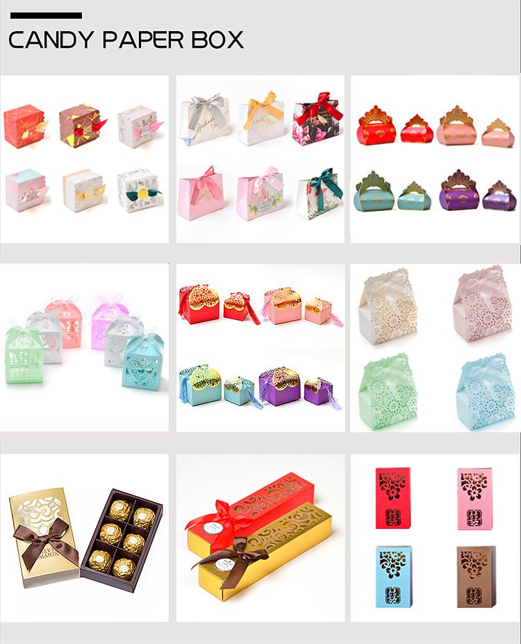 Creative Eco Friendly Rigid Paper Ribbon Handle Accept Logo Fancy Gift Sliding Drawer Gift Box