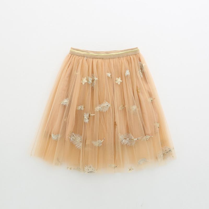 Summer girls sequins skirts feather stars print show children ruffle skirt