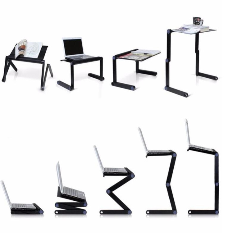 Factory Price Portable 360 Degree Height Adjustable Foldable Computer Laptop Stand