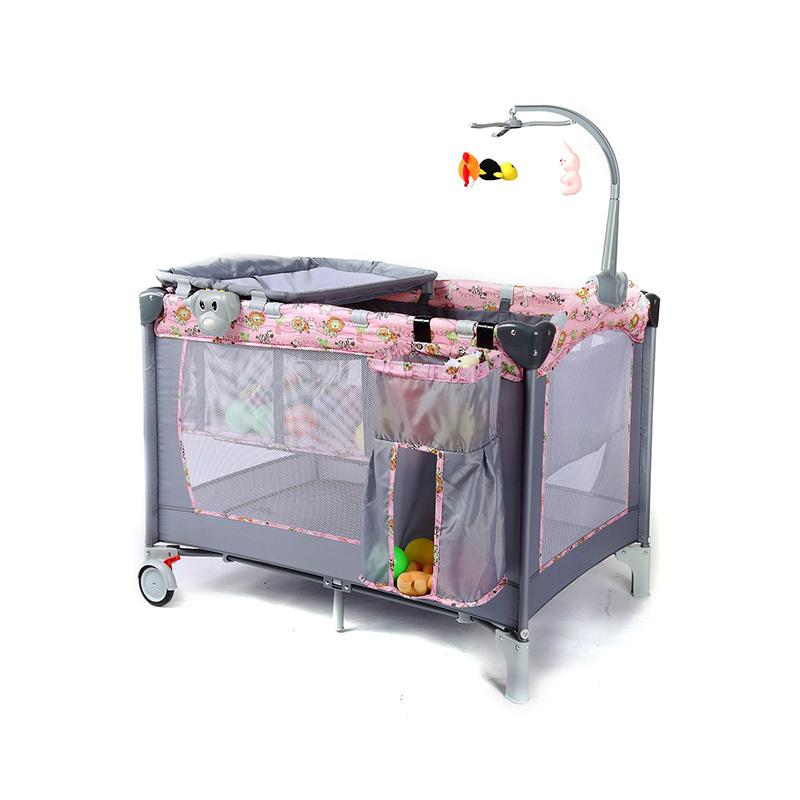 Пользовательский Складной классический детский манеж, детская мебель двойная детская колыбель/