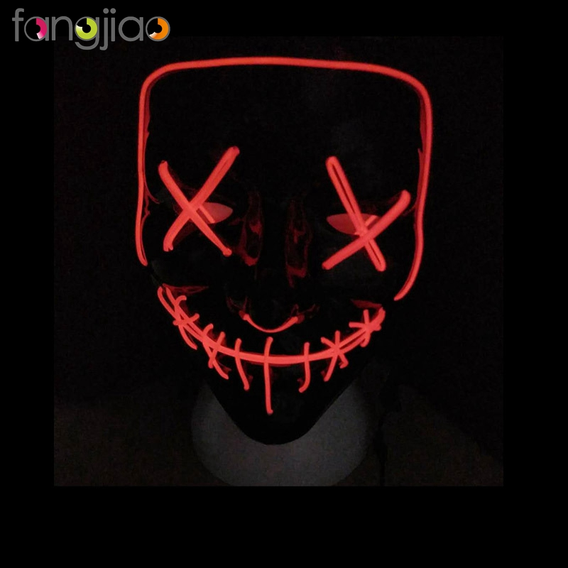 Wholesales mascaras led Halloween with controller for Halloween Party