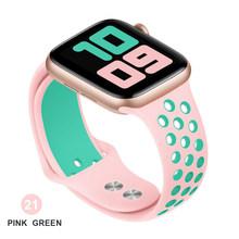 Силиконовый ремешок для Apple watch band 44 мм/40 мм iWatch band 42 мм/38 мм дышащий браслет correa Apple watch 5 4 3 38 42 40 44 мм(Китай)
