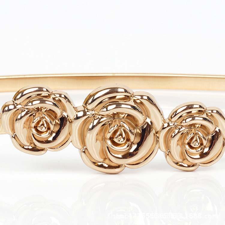 width 1cm fashion decorative waist metal belts