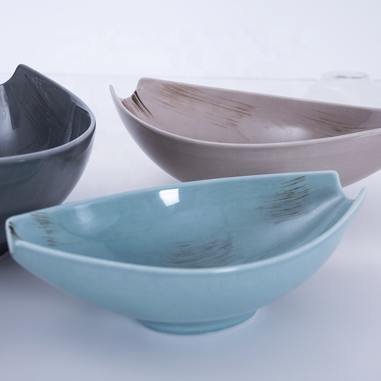 cutomized blue nordic ceramic bowls